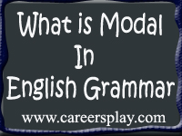 What is modal in English grammar with examples