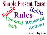 Simple Present tense rules with examples