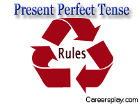 Present perfect tense rules with examples