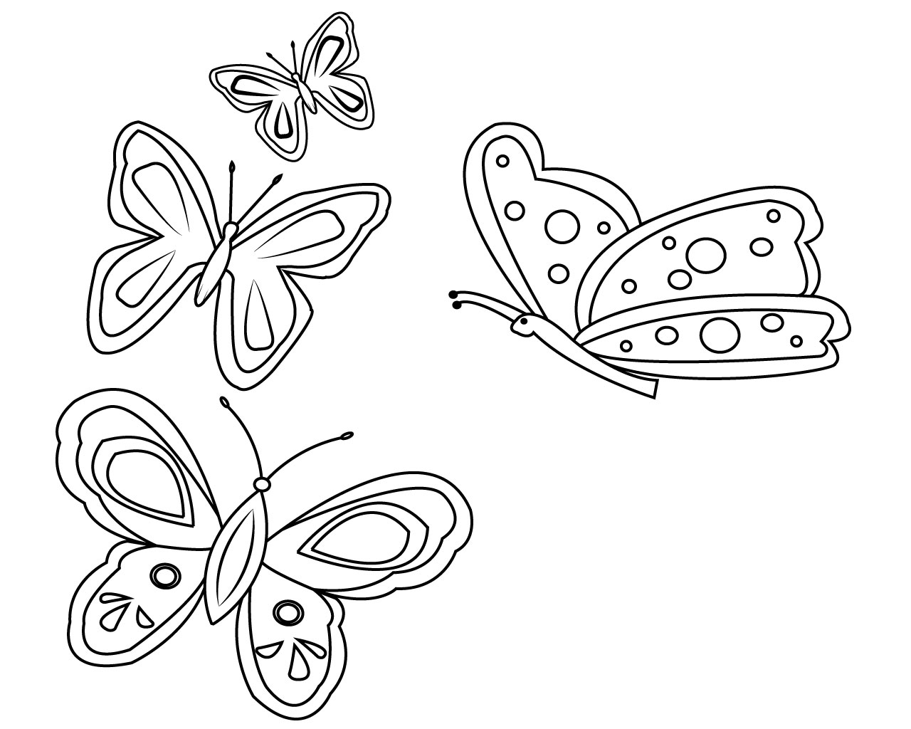 picture regarding Printable Butterfly Coloring Pages called Extraordinary Free of charge Printable Butterfly Coloring Webpages