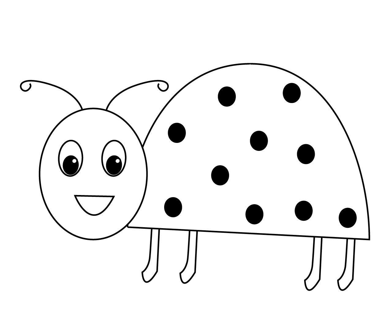 photo regarding Printable Ladybug called Simple Ladybug Coloring Web pages Absolutely free Printable