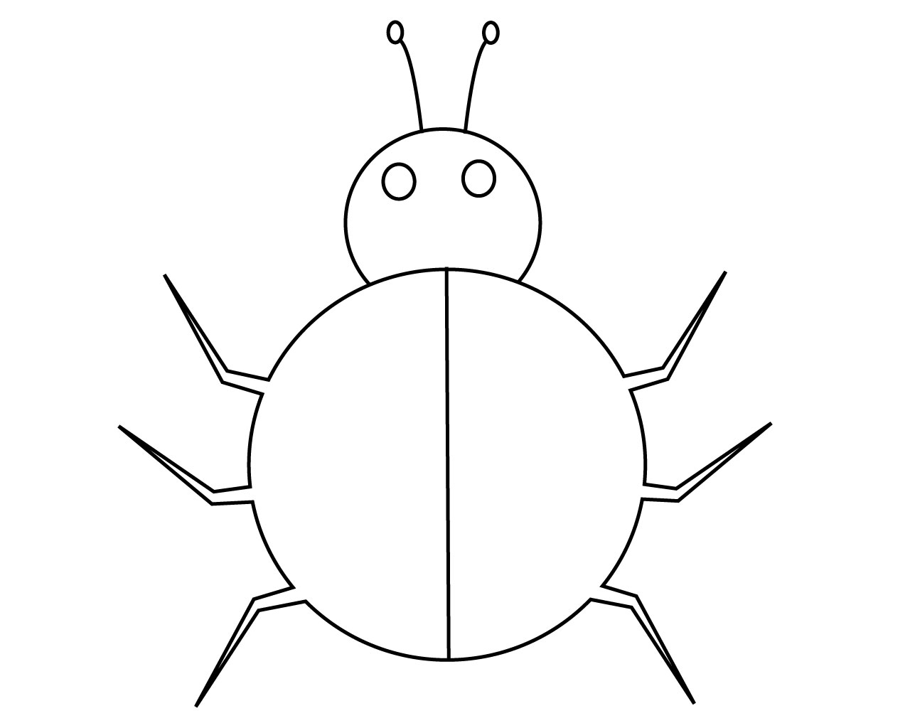 easy ladybug coloring pages free printable