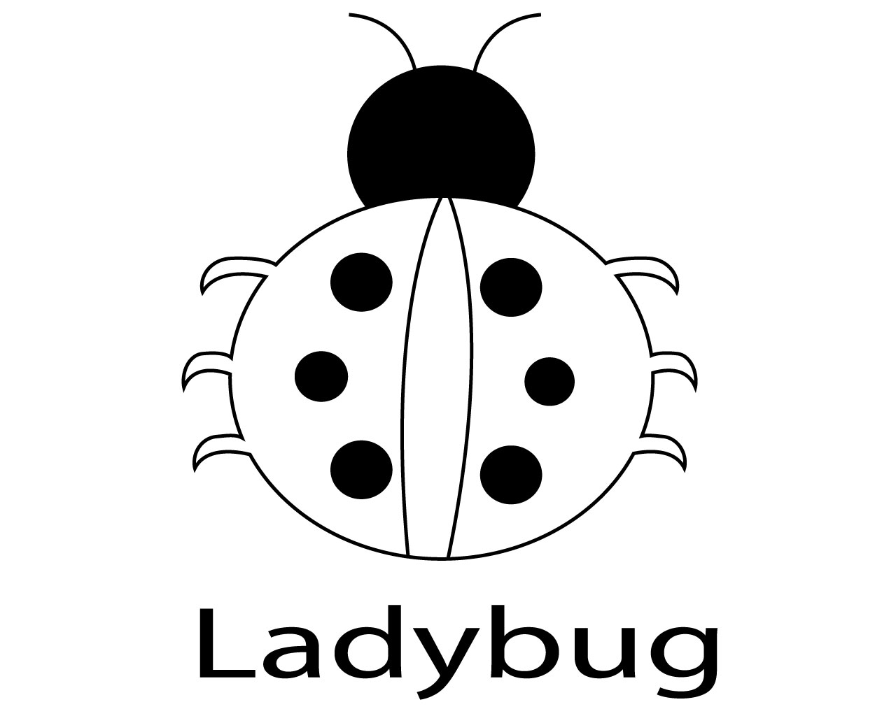 Cute Ladybug Clipart - Colouring Page For Bug Transparent PNG ... | 1024x1280